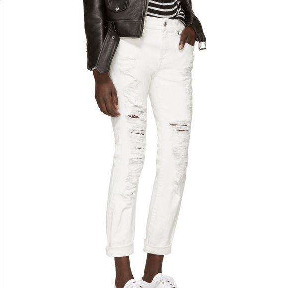 41fba01baec896 R13 Jeans | Skinny Relaxed Distressed White 24 | Poshmark